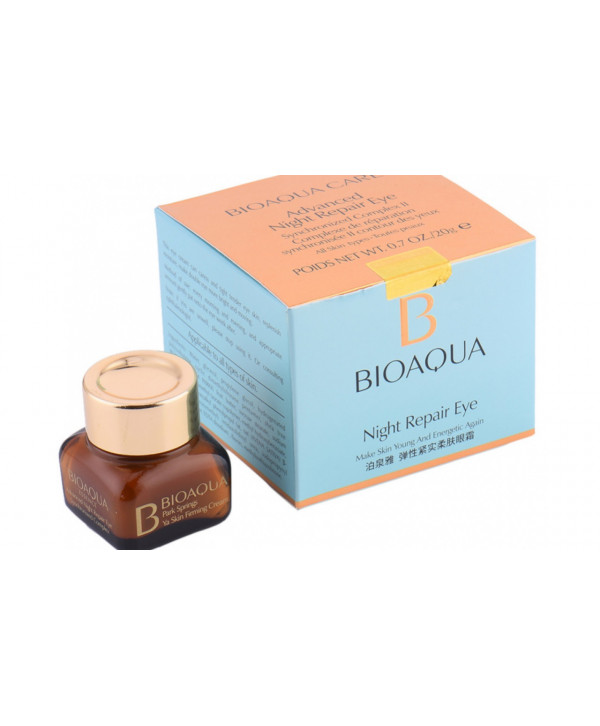 Восстанавливающий ночной крем для век Bioaqua Night Repair Eye Cream, 20 г